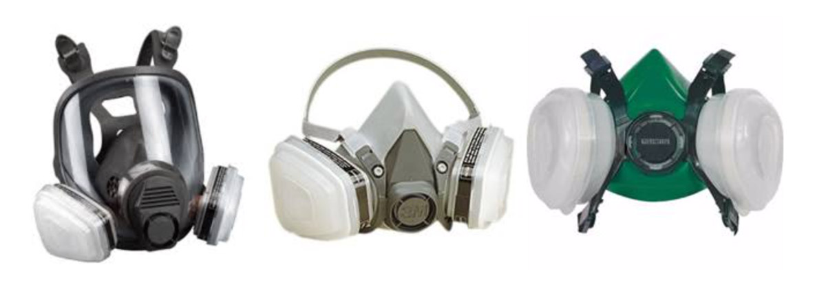 Respirator for painting cars